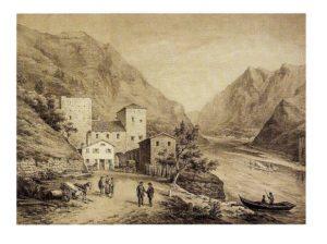 Un bellissimo vecchio dipinto di Castelnuovo