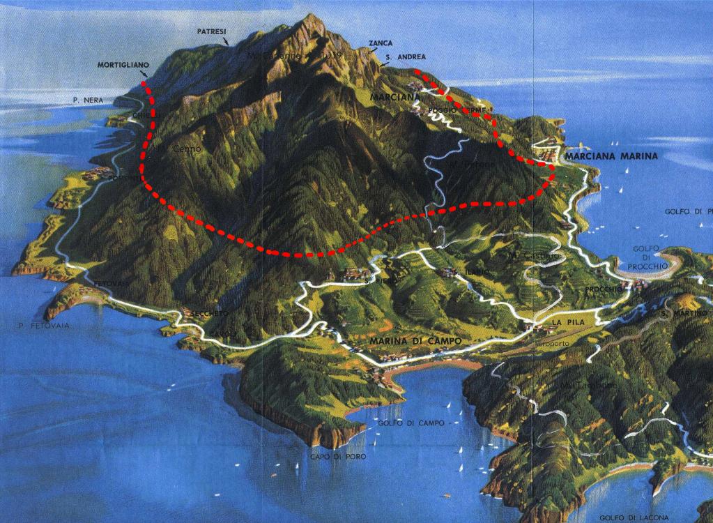 tracciato galleria serbatoio Elba